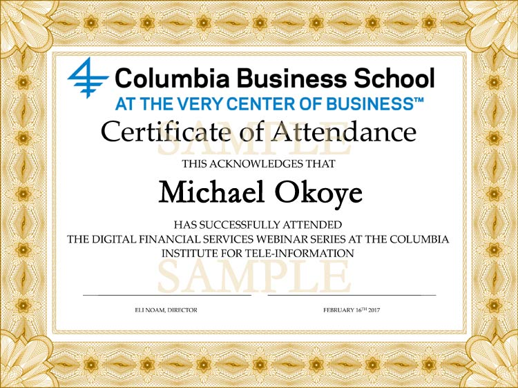 DFS Certificate Program